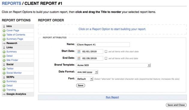Report Builder Tool