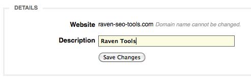 Change Website Description in Website Settings